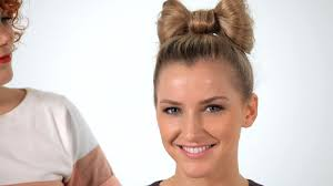 Bows In Hair Style how to make a hair bow hair tutorials youtube 6090 by wearticles.com