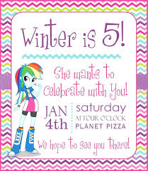 Party Template Template My Little Pony Invitation Template Birthday Invitations