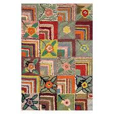 gia rose wool designer rug 60x91cm