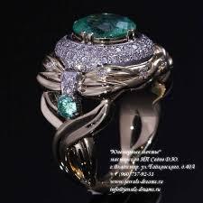 Женское золотое кольцо «Тысяча вторая ночь Шахерезады» с ...