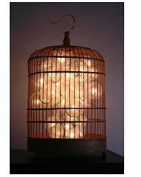 zuzupetals - repurposed birdcage lamp
