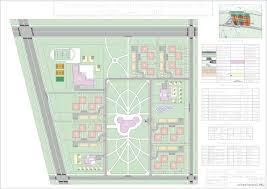 Благоустройство курсовая работа территории парка Чертежи РУ Курсовая работа Генеральный план микрорайона на 4305 чел