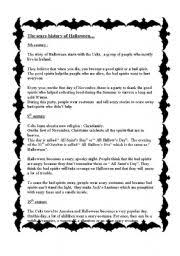 english teaching worksheets halloween stories english worksheets the scary story of halloween