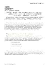 Business concept paper template is a business concept paper sample that that give information on document style, format and layout. Business Model Zen White Paper 2016 5