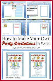 How To Design Invitations In Word Create Your Own Email Invitation Zimer Bwong Co