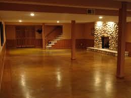 painting basement floors shiny brown concrete basement floors