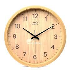 bedroom wall clocks inch wall clock 8 round wood rustic simple silent bedroom childrens bedroom wall