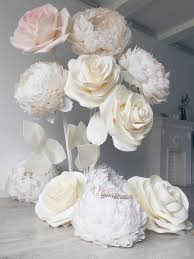 Paper Flower Wedding Backdrops White Roses Paper Flowers Paper Flowers Wedding Paper