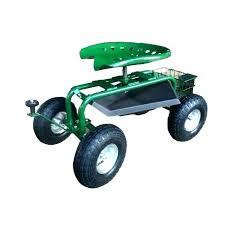 rolling garden seat cart with tool storage uk