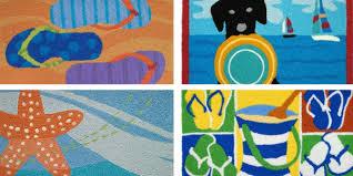 beach themed jellybean area rugs