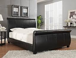 upholstered leather sleigh bed. Contemporary Leather To Upholstered Leather Sleigh Bed FURNITURE AND PLUS NC Inc