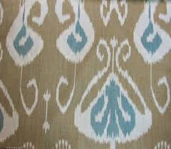 echo kravet 4 yards bansuri light brown cream blue gray ikat fabric linen drapes brown linen fabric lighting