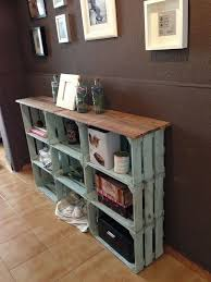 wood crate furniture. DIY Wood Wine Crate Ideas And Projects - Rustic Shelves Furniture