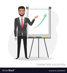 What Is Flip Chart Presentation Presentation On Flip Chart Paper A Man Holds A