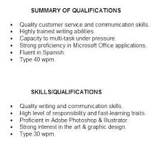 Examples Of Qualification Summary For Resume How To Write A