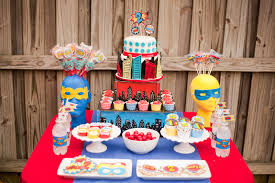 All sorts of superhero party ideas for your little superheroes from  playpartyplan.com
