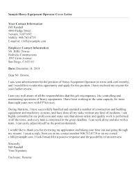 Heavy Equipment Operator Resume Classy Heavy Equipment Operator Resume Cover Letter Example Lowdailypro