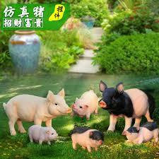 qoo10 resin pig ornaments show the