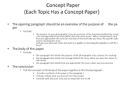 topic a r ce the story must involve a minimum of characters  3 concept paper each topic