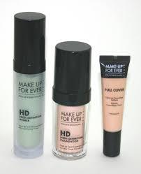 elegant mufe hd green primer hd foundation full cover concealer with grnn primer