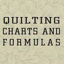 Jane's Quilting: Quilt Charts and Formulas & I am sure you all know and seen this one. Yet when someone wants me to quilt  a quilt for them or make a quilt for them, their first comment is