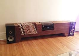 Cush Design Studio [Furniture] Cardboard and Walnut Record Player