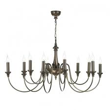 bailey 12 light traditional bronze chandelier with long drop