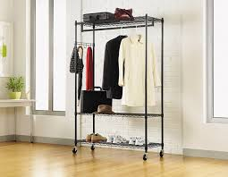 Rolling Coat Rack With Shelf Best Heavy Duty Rolling GarmentClothes Racks Reviews FindingTop 7