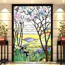 stained glass window clings stained glass window panels faux stained glass window clings furniture best