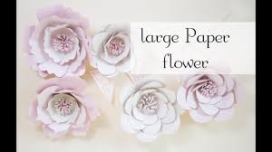 Large Paper Flower Pattern Tutorial Easy Beautiful Large Paper Flower Youtube