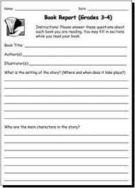 book report 3 4 practice writing worksheet for 3rd and 4th graders jumpstart 2nd grade books3rd