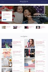 Politico Political Magazine Multipage Html5 Website Template