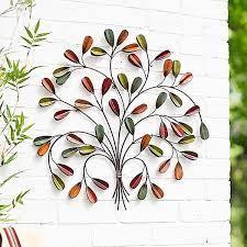 la hacienda 3d leaf posy metal wall art
