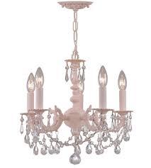 crystorama paris flea market 5 light mini chandelier in blush clear crystal hand cut 5515 bh cl mwp