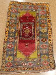 antique hand knotted wool red blue stressed vintage oriental rug 4 x 5 tribalgeometric rugs uk