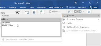 Word 2013 Custom Templates How To Quickly Insert Blocks Of Text In Microsoft Word With Autotext