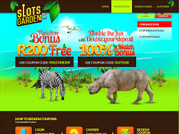 slots garden home page slots garden promotions page