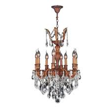 worldwide lighting versailles collection 8 light french gold crystal chandelier