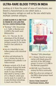 Blood Type Rarity Chart Which Are The Rarest Blood Groups In India Quora