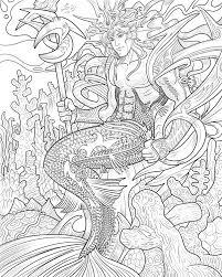 mermen memaids sea creatures coloring books coloring book mermaids
