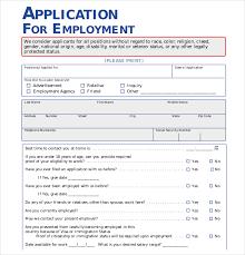 Employment Form Template Template For Job Application Rome Fontanacountryinn Com