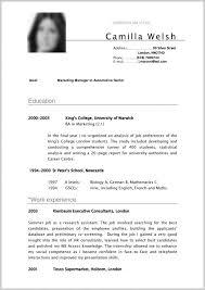 Curriculum Vitae Format Internship 282293 Cv Sample Curriculum Vitae