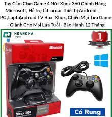 Tay Cầm Chơi Game 4 Nút Xbox 360 Chính Hãng Microsoft, Hỗ trợ tất cả các  thiết bị Android , PC ,Laptop , Android TV Box, Xbox, Chiến Mọi Tựa Game -