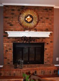 paint ideas for around brick fireplace chalked painted fireplace brick shabby paints