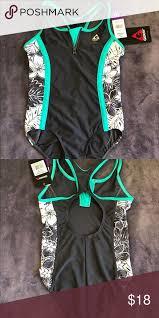 Nwt Gerry Girls Swimsuit Size 10 Girl One Piece Swim Suit