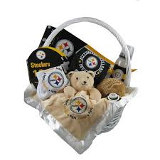 check out pittsburgh steelers baby gift basket touchdown