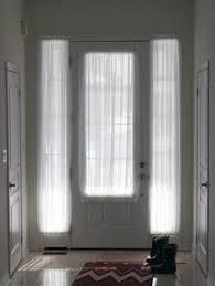 front door side window curtainsMore hanging curtains by the front dooronly if curtains could be