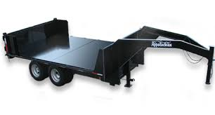 dump trailers for by appalachian trailers tandem dual gooseneck dump trailers