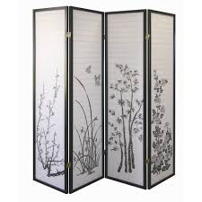 home decorators collection  ft black panel room divider
