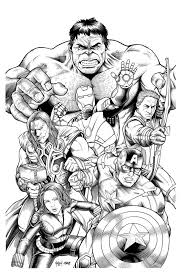 Avengers Marvel Coloring Pages A Child